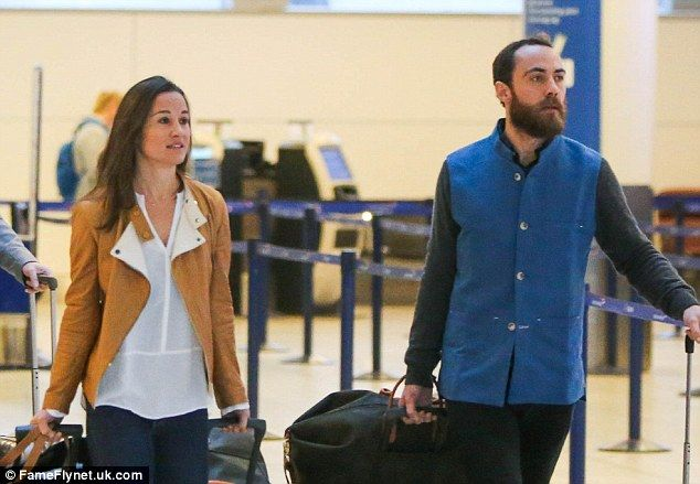 Pippa Middleton and James Middleton looked ready to kick of the New Year with style as the...