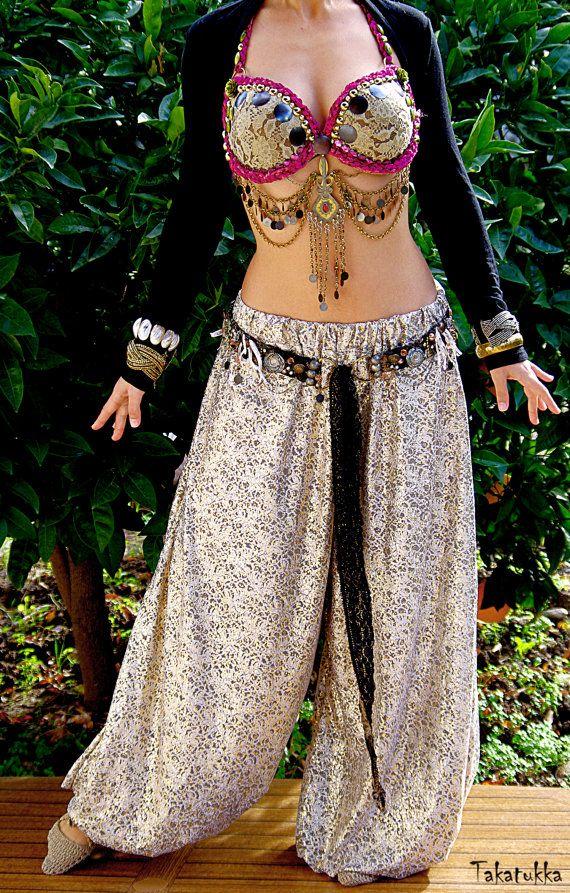Bellydance pantaloons Boho pants Dance costume Harem par Takatukka