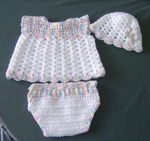 Ravelry Patterns Free Babies Newborn | this little dress and pants from a free Ravelry pattern called Baby ...