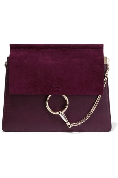 Chloé updates its covetable 'Faye' bag in an autumnal grape hue.