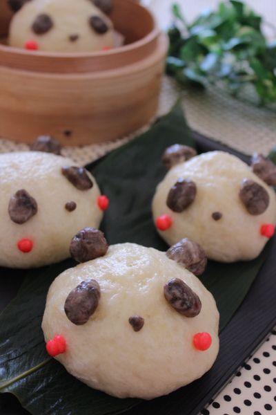 パンダあんまん&豚まん by きーちゃんさん   レシピブログ - 料理ブログのレシピ満載!