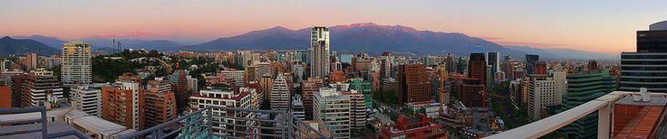 Santiago Skyline from Intercontinental Hotel, Santiago, Chile