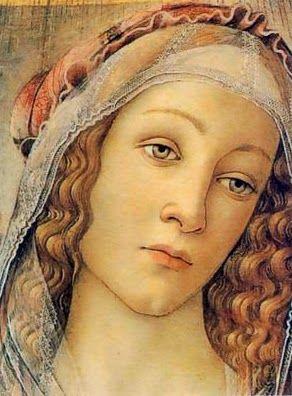 Sandro Botticelli - detail - Madonna of the Pomegranate - 1487 - Uffizi