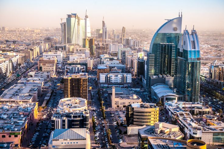 Riyadh, Saudi Arabia, Kingdom Center view from the Four Seasons Hotel