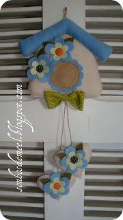 Sonhos de Mel 'ੴ - Crafts em feltro e tecido: casinha em feltro