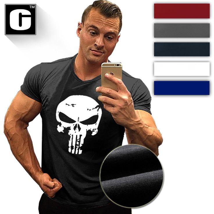 The Punisher Skull Men's Fashion T Shirt Print Marvel Comics Supper fitness men bodybuilding Hero Clothes Summer T shirt