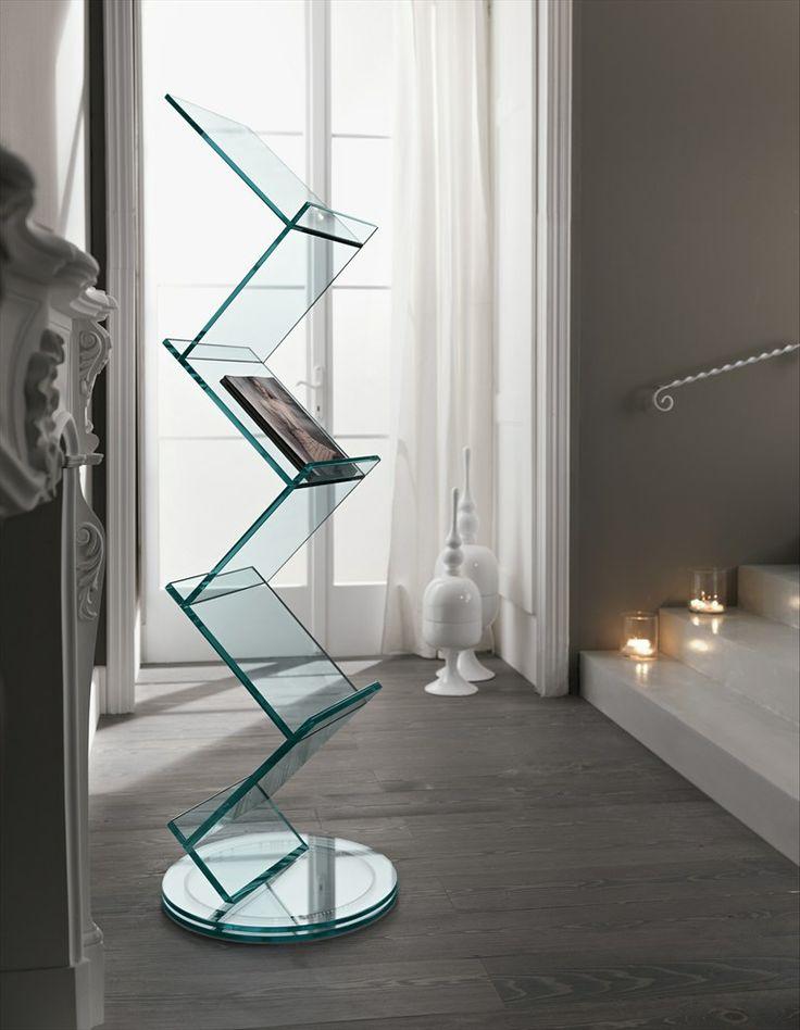 Swivel glass bookcase ALBERO - T.D. Tonelli Design