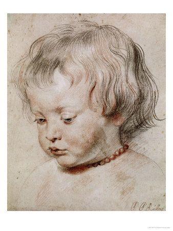 Peter Paul Rubens - Portrait Study of His Son Nicolas, 1621 Digitálně vytištěná reprodukce na AllPosters.cz.