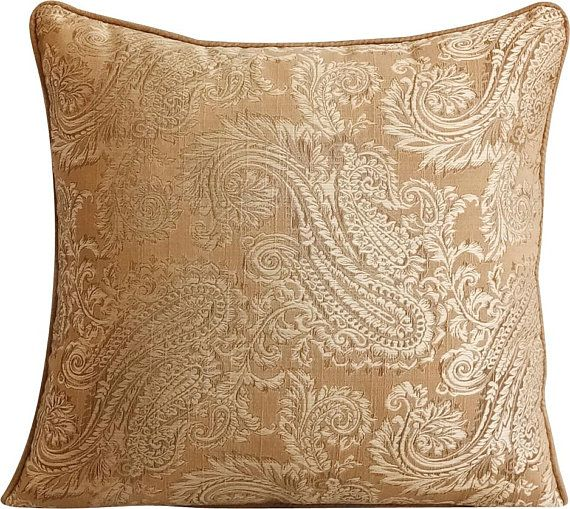 Brown Decorative Throw Pillows Covers 12 X 12 Paisley Pillow Covers Jacquard Weave Paisley Couch Pillows Paisley Brown Smitten Paisley Pillows Decorative Throw Pillow Covers Decorative Throw Pillows