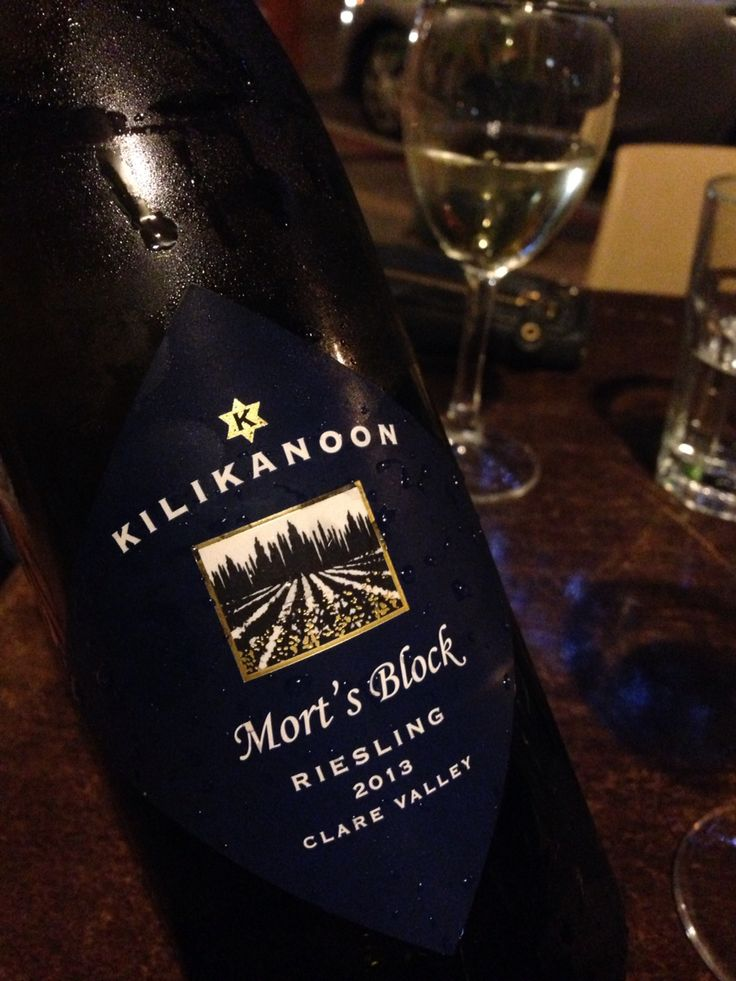 Kilikanoon Mort's Block. A beautiful Riesling 2013 from the Clare Valley.  Enjoyed on a balmy evening at Ruocco's Restaurant. The lemon and lime aromas and flavors complimented our seafood pasta beautifully. Liv said thinks this is a special occasion wine.