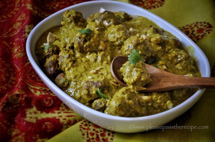 Lamb Kofta in Cashew Curry Sauce | Please Pass the Recipe