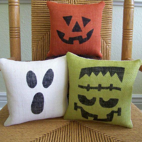 Halloween pillow pumpkin pillow Ghost pillow by KelleysCollections