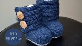 how to knit one hour booties - YouTube