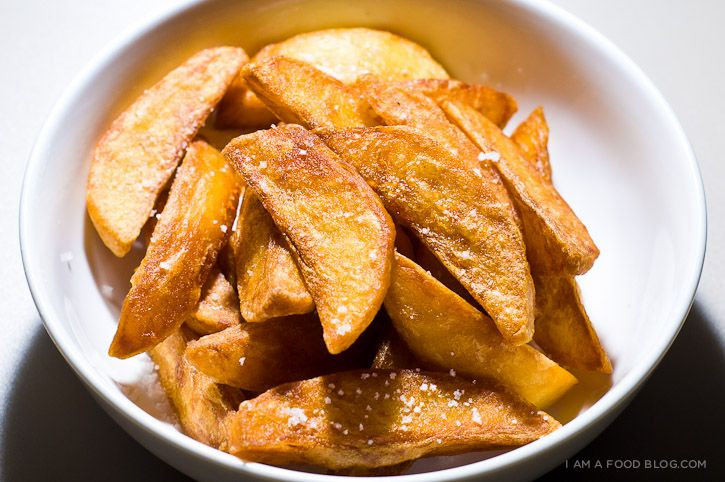 triple fried chips! #fries