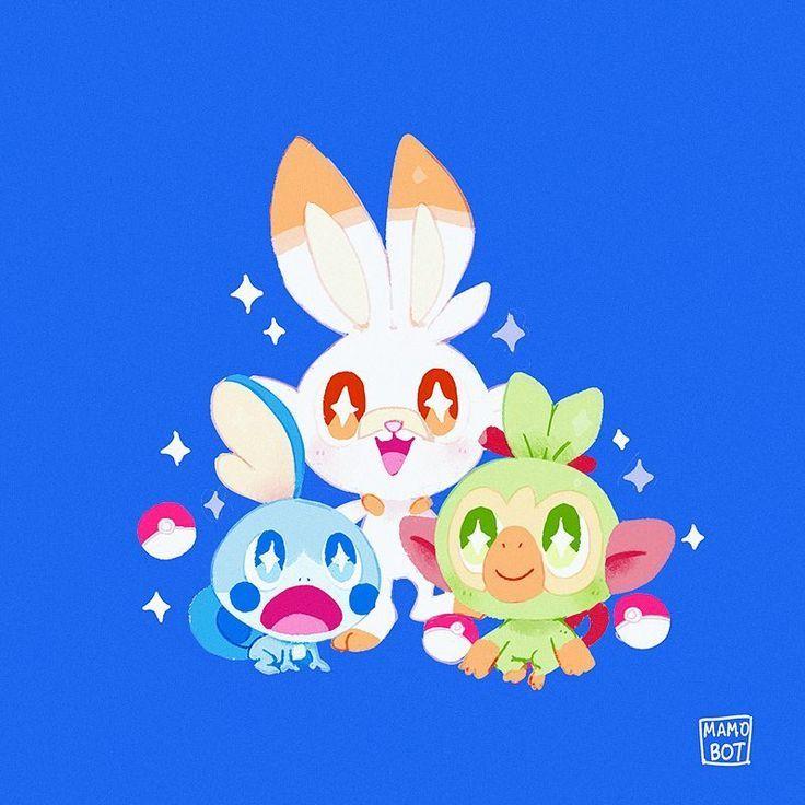 I M Loving All This Gen 8 Pokemon Fan Art The New Pokemon Sword And Shield Starters Are So Cute Which Is Your Favor Pokemon Fan Art Pokemon Species Pokemon