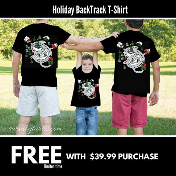 FREE with Purchase Christmas Race Track Shirt for by swankyturtle
