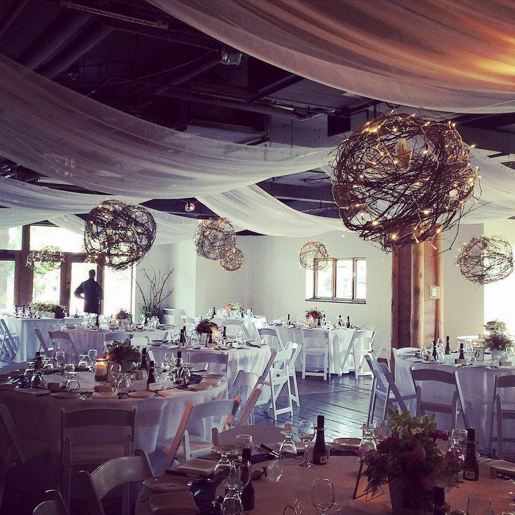 Wedding Reception, Twig Balls, Grapevine Balls