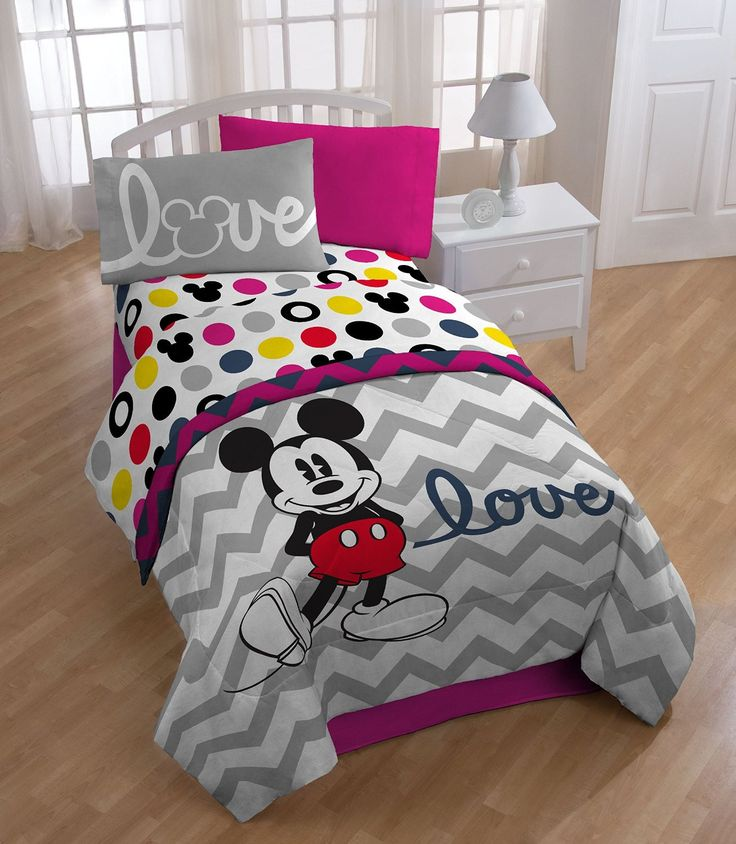 Disney Mickey Chevron Sheet Set, Twin