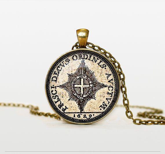 Старая монета кулон старинные монеты стекла ожерелье личности старая монета бронзовый ювелирные изделия для женщин мужская парфюмерия CN519