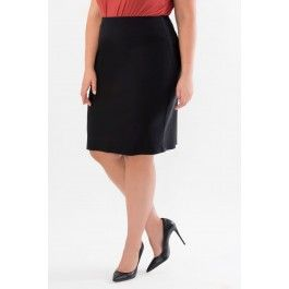 Pull-on Pencil Skirt with Back Slit