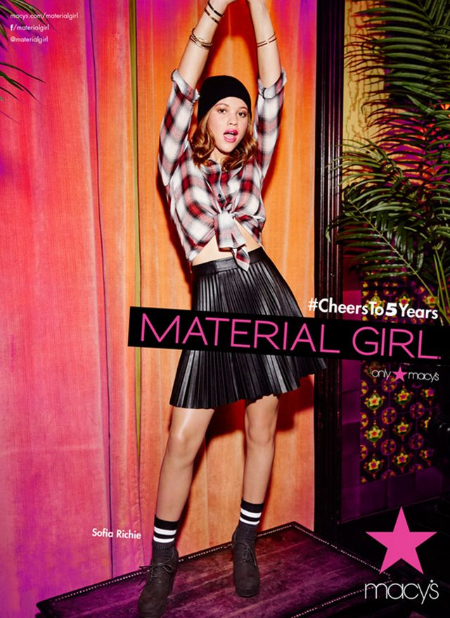 "Nicole Richie's Little Sister Sofia Looks Stunning In The New ""Material Girl"" Campaign 
