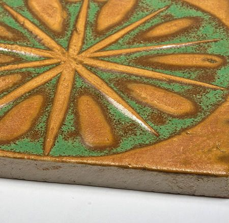 Handmade Ceramic Decorative Tile - Wind Rose Angkor by DeKa Ceramic Tiles