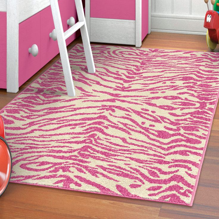 Pretty Up Your Little Princessu0027s Room With Our Fun Pink Zebra Stripe Kidu0027s  Rug!