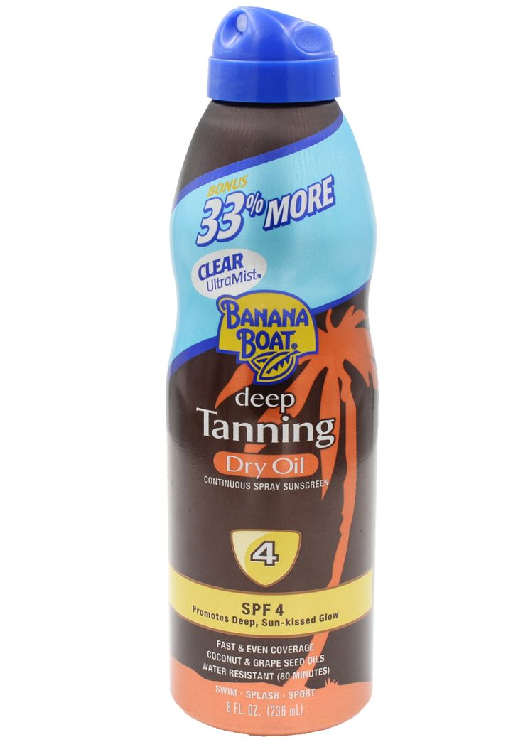 Banana Boat Deep Tanning Dry Oil Spray SPF 4 8 FL. OZ