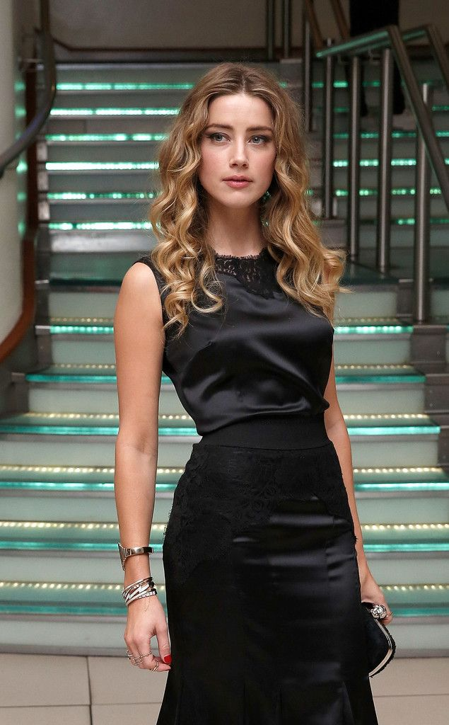 """Amber Heard attends the """"Black Mass"""" Virgin Atlantic Gala screening during the BFI London Film Festival, at Odeon Leicester Square on October 11, 2015"""
