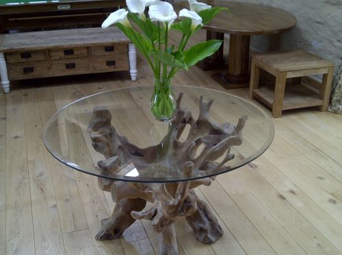 Reclaimed Teak Root Dining Table 1.2m - Same as the Saturday kitchen Table  on BBC show with Jamie Martin  ХоÑ?Ñ? здесÑ? побÑ?ваÑ?Ñ?  Pinterest  Kitchen  tables, ...