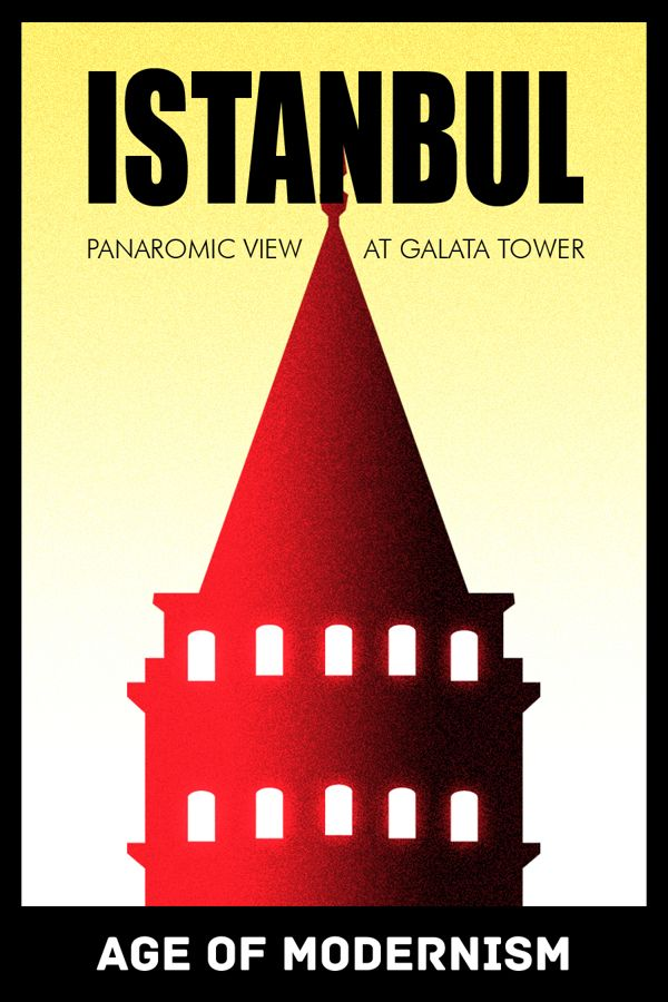 Istanbul Posters with historical design styles by Utku Civelek, via Behance