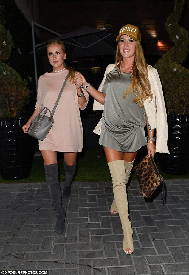 On the up: Lillie Lexie Gregg looked to be well and truly over her recent heartbreak when she stepped out with a gal pal to Japanese restaurant Nozomi, Birmingham, on Wednesday night