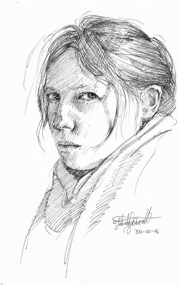 Self portrait in ink. #inktober 27