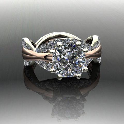 Forever Brilliant Moissanite and Diamond Infinity Engagement Ring – Bel Viaggio Designs