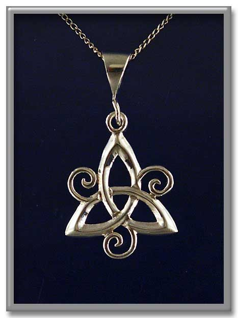 Spiral Triquetra Pendant - Item Detail for PSS-460 at Gryphon's Moon