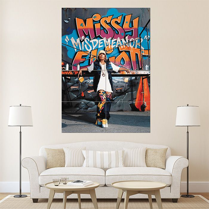 Missy Elliott Graffiti Block Giant Wall Art Poster - I very much want this