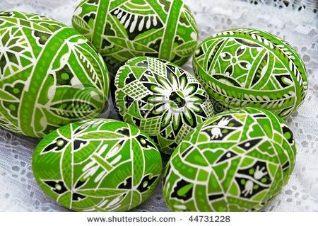 Czech Easter eggs.