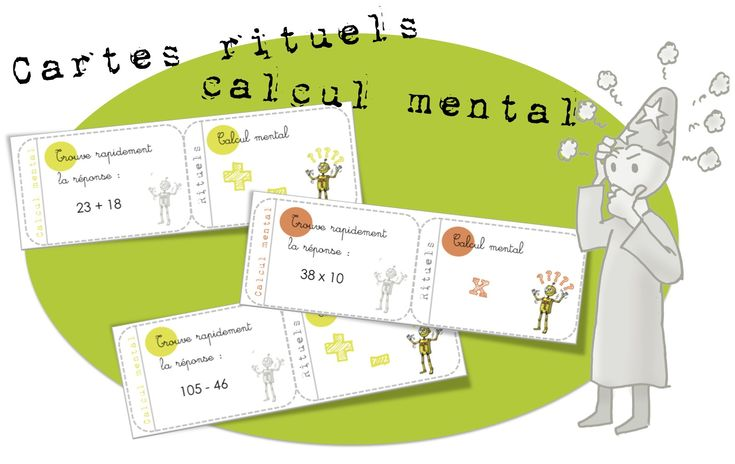 Cartes rituels-Calcul mental : addition, multiplication , soustraction