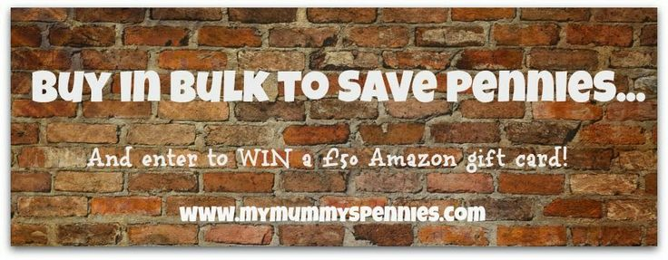 The Best Buys in Bulk Purchases - Win a £50 Amazon gift card!   http://www.mymummyspennies.com/2014/02/the-best-buy-in-bulk-purchases-win-50.html