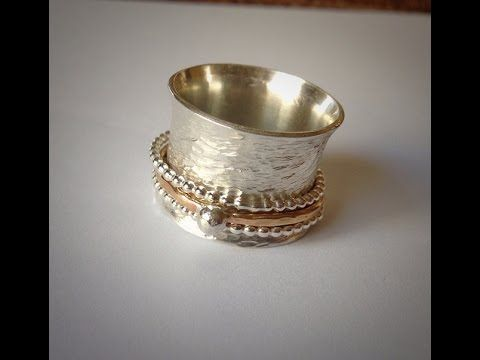 Let's Make a Spinner Ring! - YouTube...turn off your sound.  it's fast-forward and sounds like Alvin and the Chipmunks.
