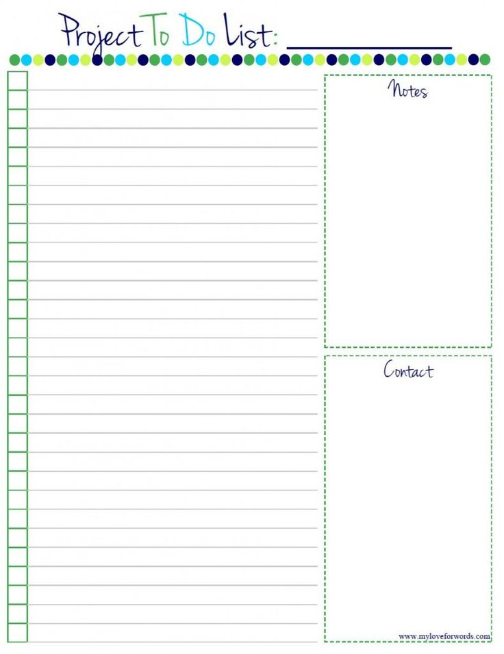 Project To Do List Free Printable! Home Manage Binder {free