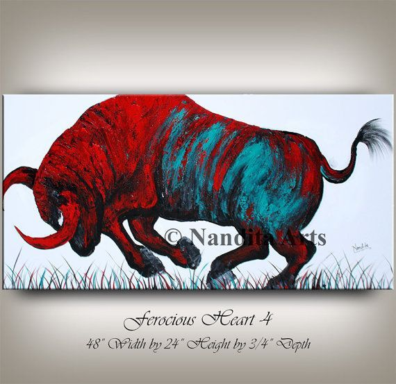 Large Animal Painting,bull painting original Black Bull,Bull Abstract Painting on Canvas,Buffalo Painting,bull painting large oil painting