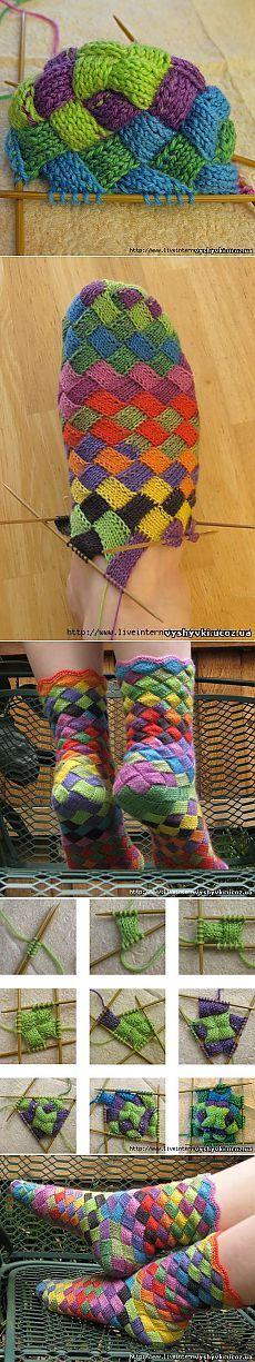 Фантастические носочки! (спицы) - Носки, тапочки, угги, пинетки  - ВЯЗАНИЕ СПИЦАМИ, КРЮЧКОМ - Бесплатные схемы вышивки крестиком