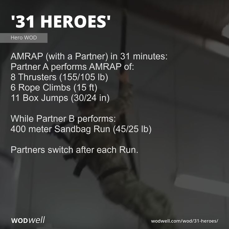 31 Heroes Workout Functional Fitness Wod Wodwell Wod Workout Hero Wod Hero Workouts