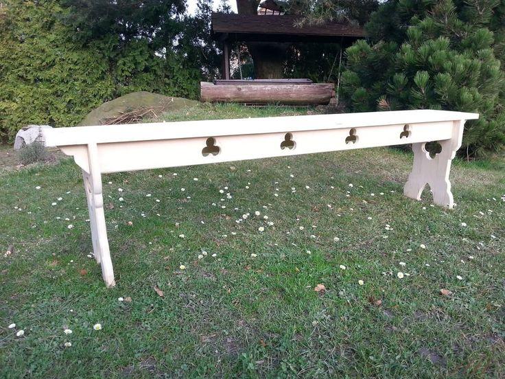 Medieval carved bench
