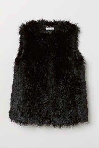 H & M Kunstfellweste – Schwarz   – Stitch Fix Jacket and Vest ideas