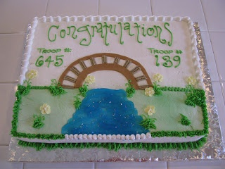 multiple girl scout bridging cake - Google Search