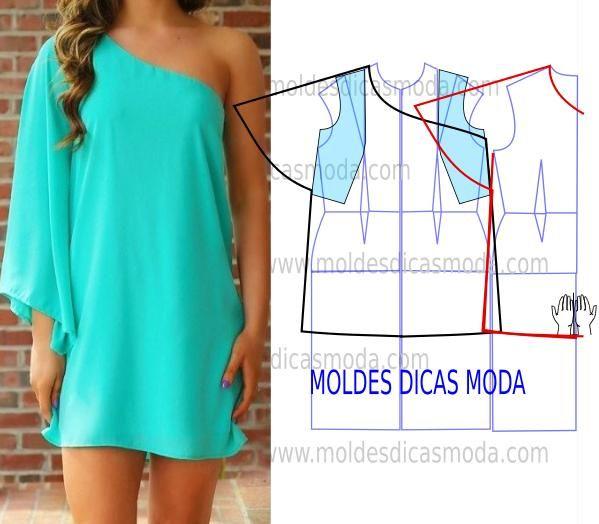 A proposta de hoje passa por este molde vestido azul muito solicitado por algumas das seguidoras da página. A elegância é uma das características deste mod