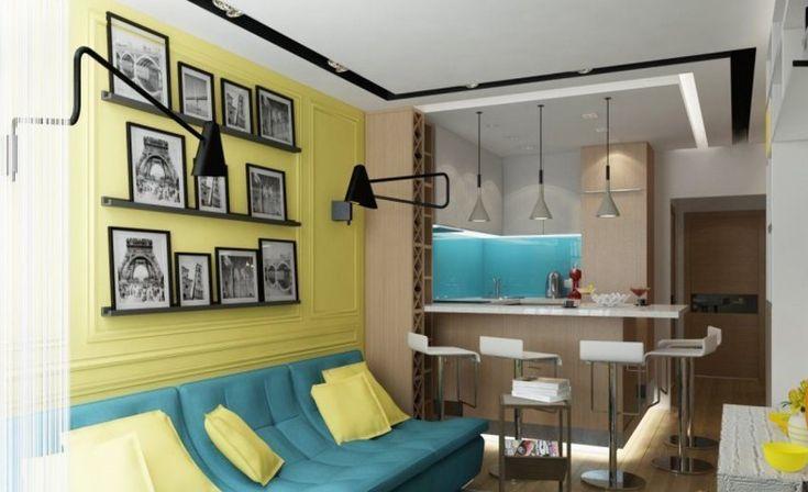 Дизайнер Ольга Катаевская превратила  44-метровую квартиру в красивое эклектичное семейное жилище с местами для детской кроватки и игр малыша.