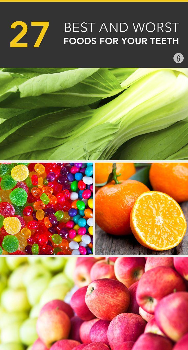 The Best and Worst Foods for Healthy Teeth #dental #health #teeth #food